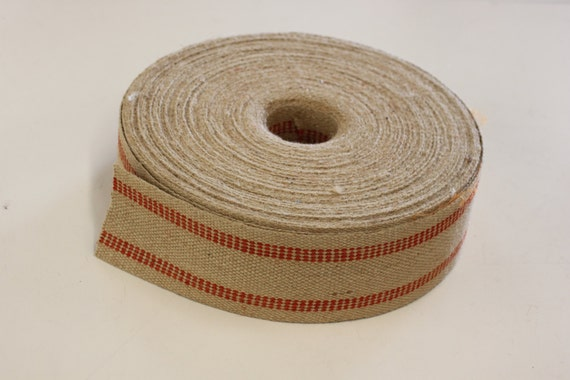 Jute Webbing For Upholstery Sold In 5 Yds Length Or More 79 Cents Per Yd Red Stripe 11 Lb 3 1 2 Wide For Chairs Sofa Decoration