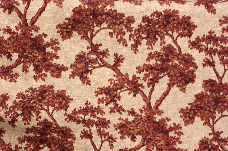 FABRIC Drapery 54 wide Slip Cover, Allenwood Campari by Robert Allen fabrics Bedding Good for Upholstery linen look Cotton fabric