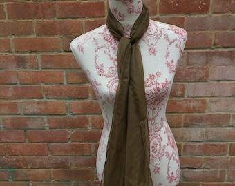 Brown sheer chiffon vintage scarf
