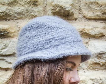 Grey vintage winter hat