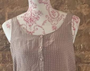 Polka dot brown vintage blouse