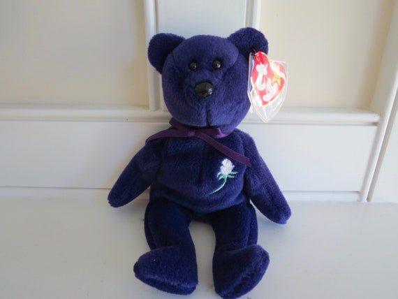Rare Princess Diana Beanie Baby 1st Edition The Real Deal Etsy