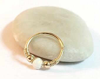 Opal Conch Earrings, Conch Opal Earring, Conch Jewelry, Opal Conch Ring, Conch Hoop, Conch, Conch Piercing Jewelry, Conch Pierced Earring