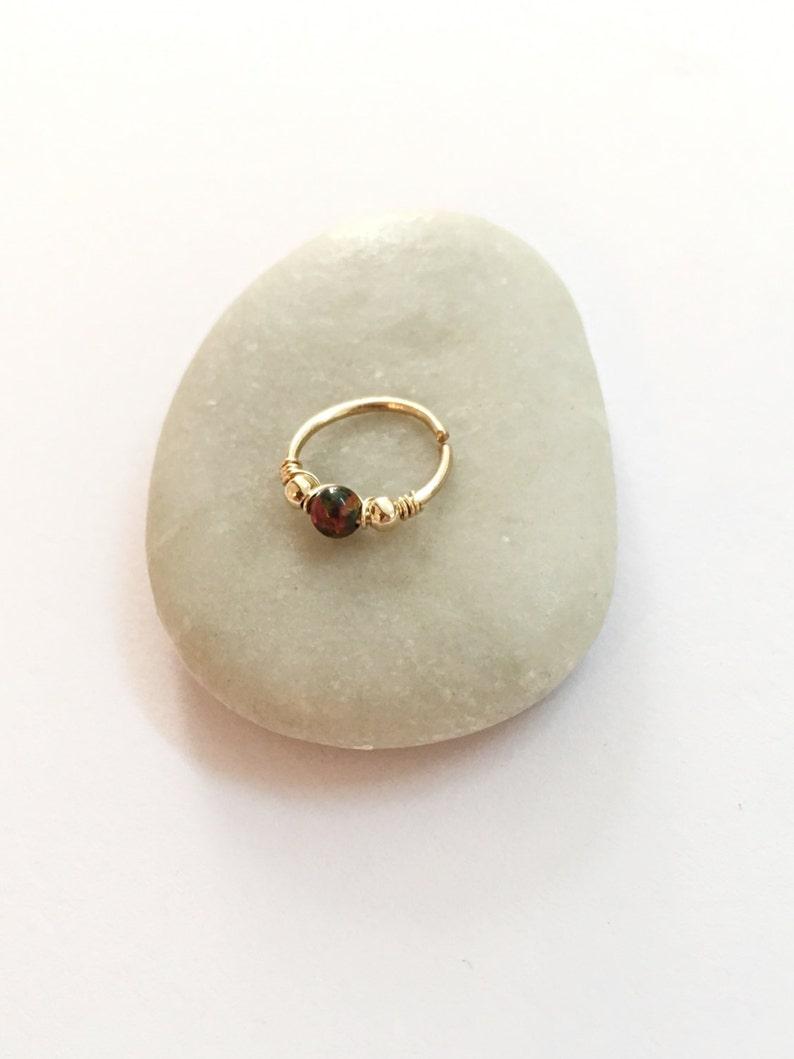 conch pierced opal earring conch jewelry earring conch hoop gold conch ring opal conch earring conch hoop earring Conch piercing opal