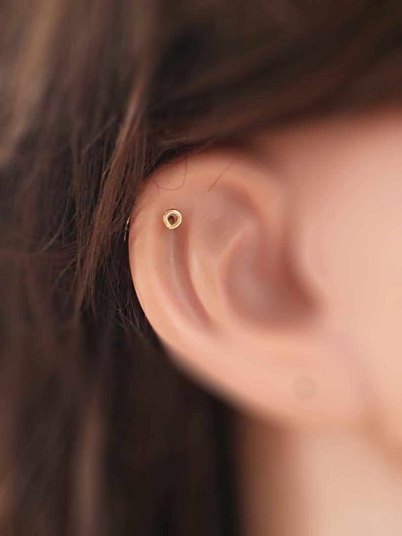 Cartilage Stud 20g Stud Earring Piercing Stud 14K Gold Nose Stud 20g Nose Stud Tragus Stud Rose Gold Nose Stud Tiny Helix Stud Earring