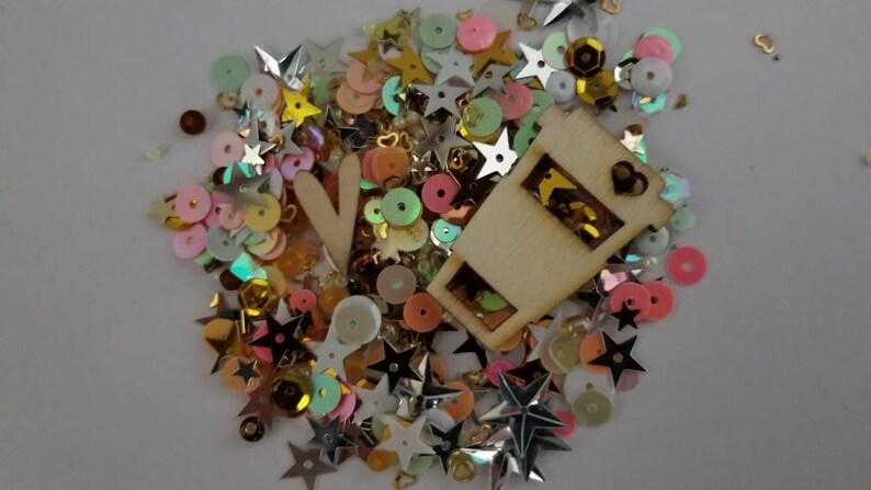 Coffee Confetti Shaker Filler
