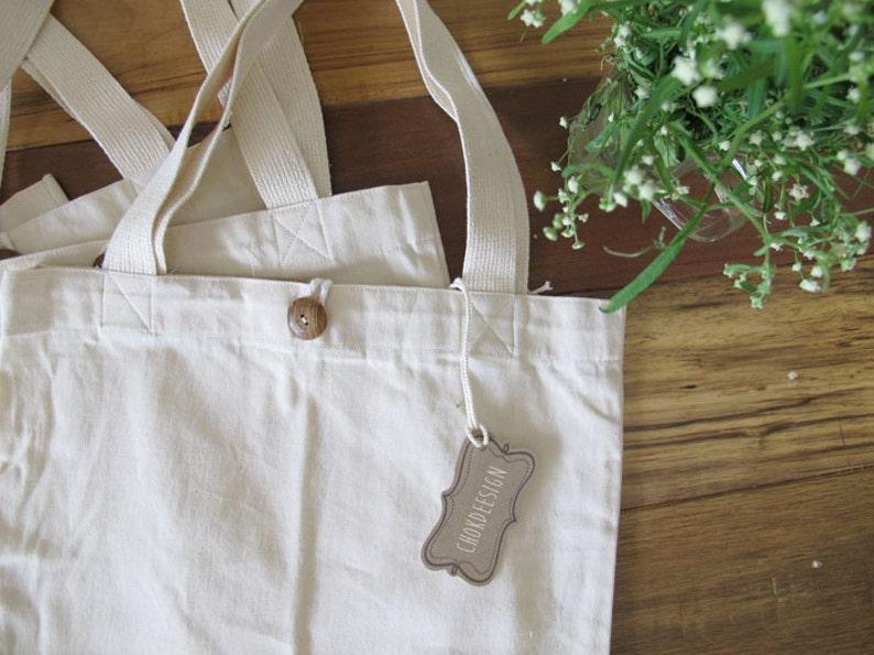 Natural 100/% Cotton canvas Tote Bag Blank