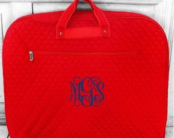 Monogrammed Hanging Bag - Personalized Ladies Garment Bag - Travel Bag -  Quilted Garment - Bridesmaid Gift - Girls Garment Bag - Dress Bag da59b71499