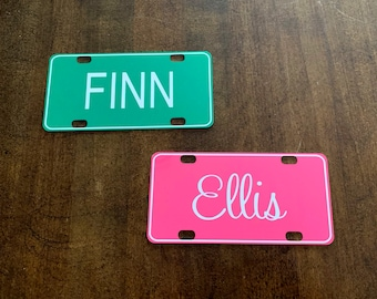 PINK MINNIE MOUSE MINI LICENSE PLATE Any Name Personalized Kids Bicycles Wagons
