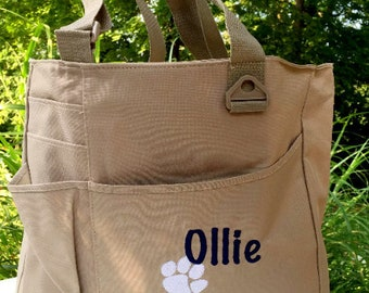 Puppy Gift - Dog Tote - Dog Bag - Day Camp Bag - Puppy Tote - Dog Gift -  Etsy Bestseller - Personalized Name Pet Travel Tote - Animal Tote 0c8bfd00e9e12