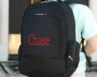 9a2a90b6f705 Black Backpack with Name - School Backpack - Book Bag - Kids Bag - Kid  Backpack - Child Bag - Boys Book Bag - Boy Pack - Back to School