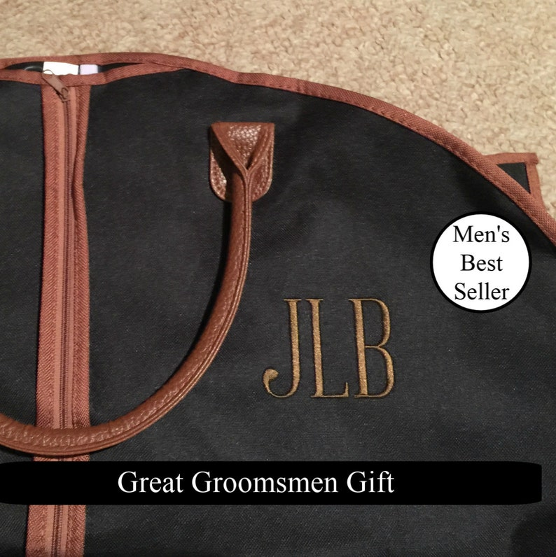 965d2337ae2d Our Personalized Men's Garment Bag - Monogrammed Hanging Bag - Etsy  Bestseller Garment Bag - Groomsmen Gift - Suit Bag - Travel Suit Bag