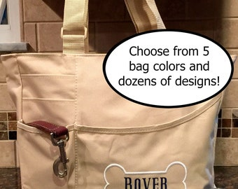 Our New Puppy Gift - Dog Tote - Dog Bag - Day Camp Bag - Puppy Tote - Dog Gift - Etsy Bestseller - Pet Travel Tote - Christmas Pet Gift