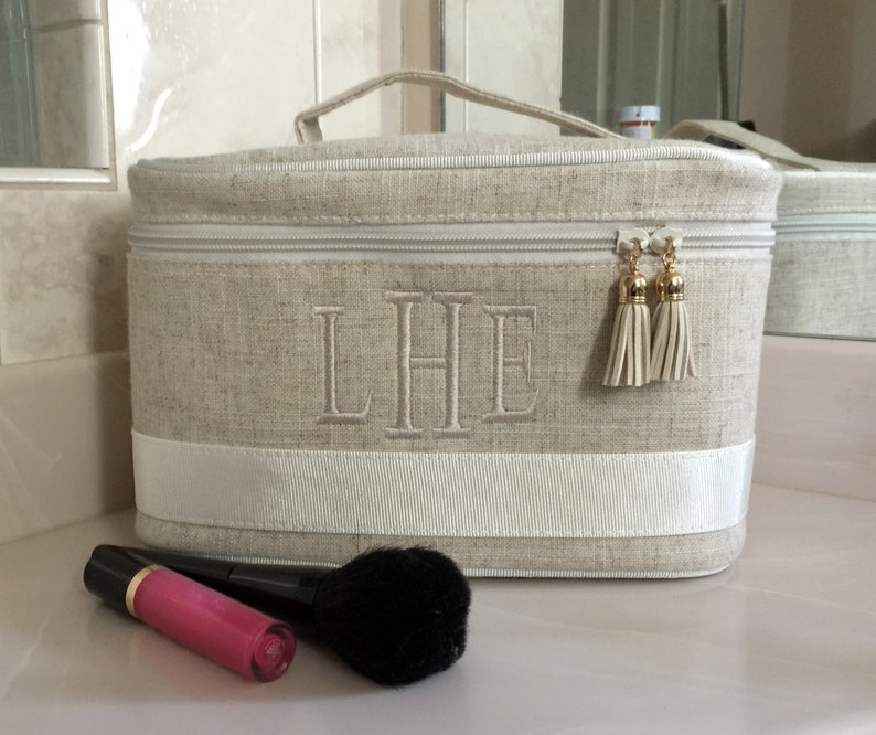 Monogrammed Train Case Bridesmaid Gift Personalized  64a595775b524