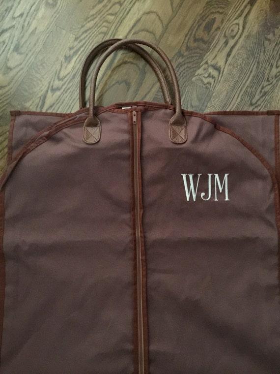 Sac de vêtement pour homme personnalisé - monogramme suspendu bagage pour hommes-vêtements personnalisé vêtement sac - cadeau de garçons d'honneur - sac