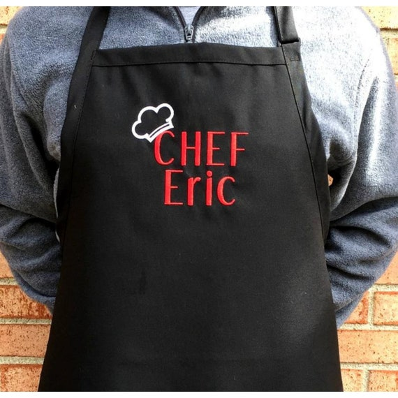 One Size Cooking Apron for Men and Women Personalized Grilling FREE SHIPPING