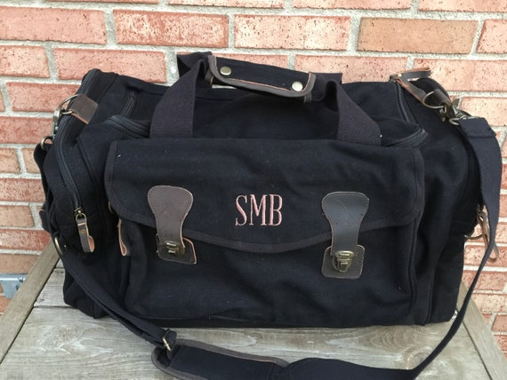 Personalized Men s Duffle Bag Personalized Travel Duffel   Etsy 4f2211f33e