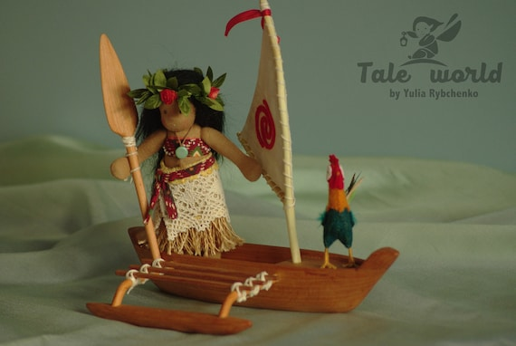 Princess Moana boat Moana party wooden toy Moana birthday | Etsy