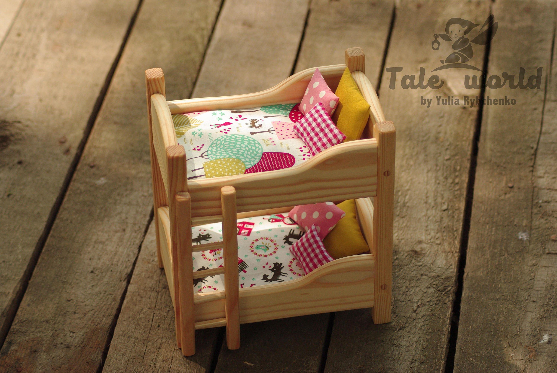 Puppen Etagenbett Holz : Holz puppenhausmöbel montessori spielzimmer. waldorf puppe etsy