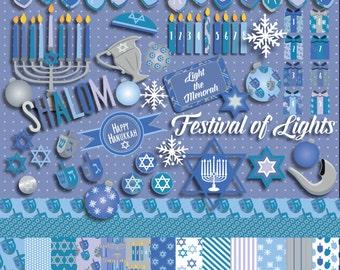 Light the Menorah - Hanukkah Clip Art