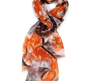 Beautiful Painted Leaves Scarf
