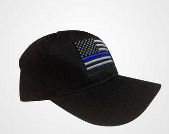 USA Police Memorial Thin Blue Line Police Lives Matter Dark Blue Cap Hat  ( Navy 04d19423b187
