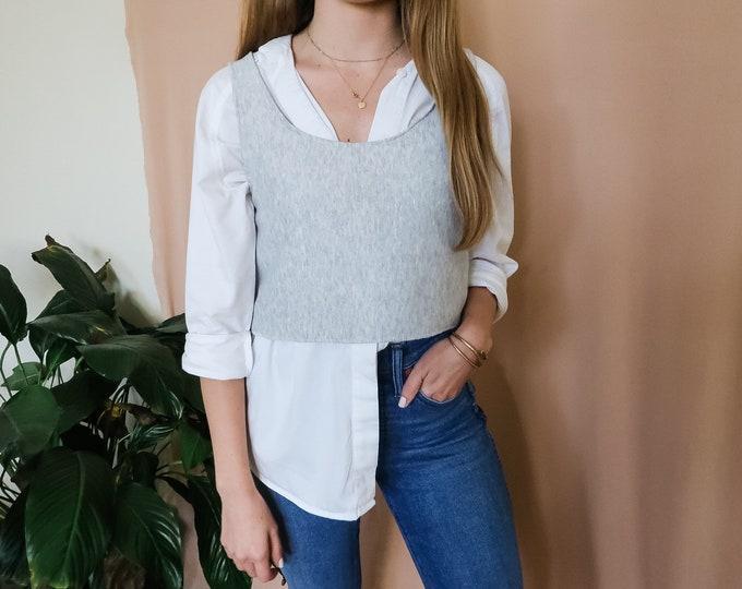 Women's handmade sweatshirt fleece tank