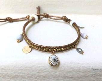 Brass Charm Bracelet