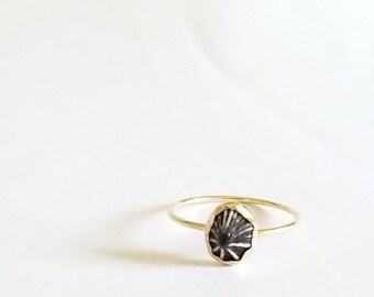 MINI OPIHI RING: The cutest little Maui shell in a 14k gold-filled setting.