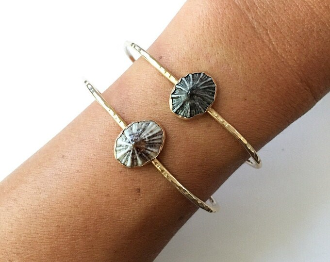 Sterling Silver Opihi Bracelet