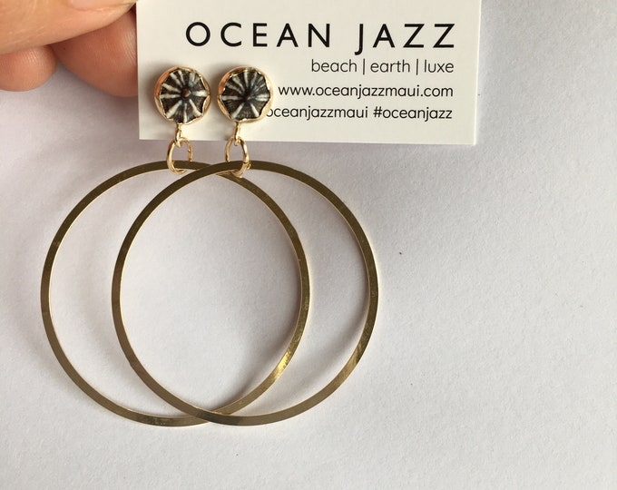 New OPIHI + HANGING HOOP Earrings