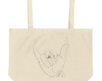 OPIHI + SHAKA Large Organic Tote Bag