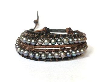 Freshwater Pearl Double Wrap Bracelet
