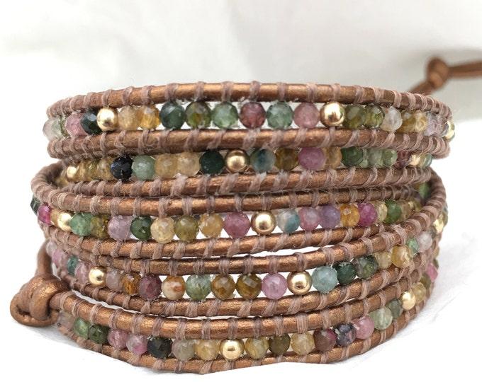 Tourmaline Five Wrap Bracelet