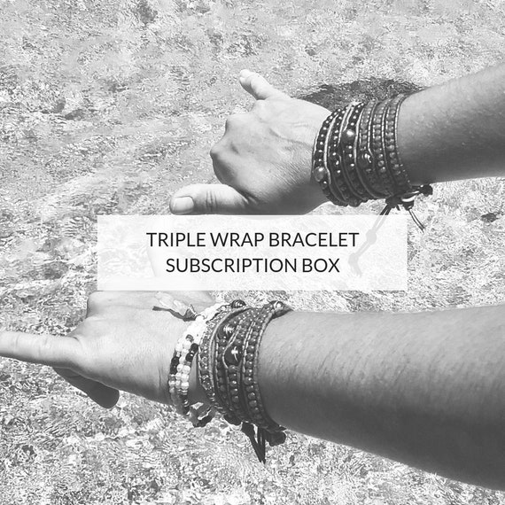 BRACELET SUBSCRIPTION BOX: A beautiful bracelet delivered to your mailbox every month.
