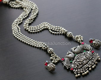 Long Temple Necklace,  Long Boho Necklace,  tribal necklace, Temple Jewelry, Ganesha Oxidized Necklace