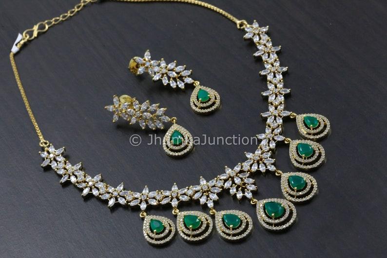 3cea63a2baa98 Emerald Necklace, Polki Necklace, Necklace, Indian wedding, Bollywood,  Polki Necklace, Indian Bridal Jewelry