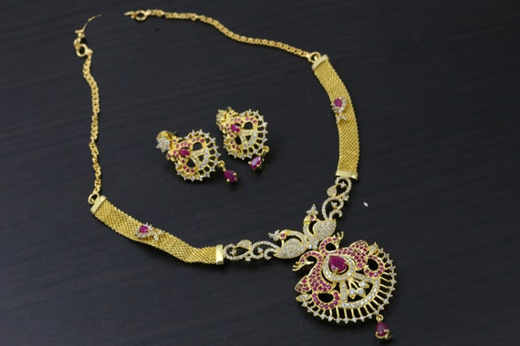 Indian Necklace Polki Necklace Wedding Gold Necklace Kemp Etsy