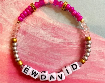Eat Glass David Rose Schitt/'s Creek Quote Beaded Stretch Bracelet Best Friend Gift Funny Bracelet Sassy Bracelet