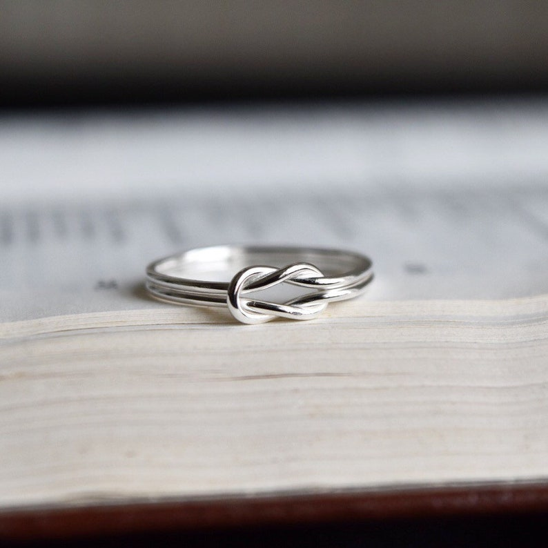 f212394fd2 Silver Knot Ring. Lovers Knot Ring. Silver Love Knot Ring.   Etsy