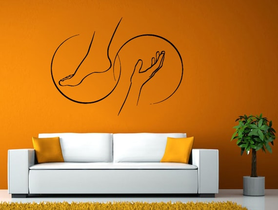 Spa Relax Massage Therapy Wall Window Vehicle Sticker Decal Vinyl Mural Decor Art L2083
