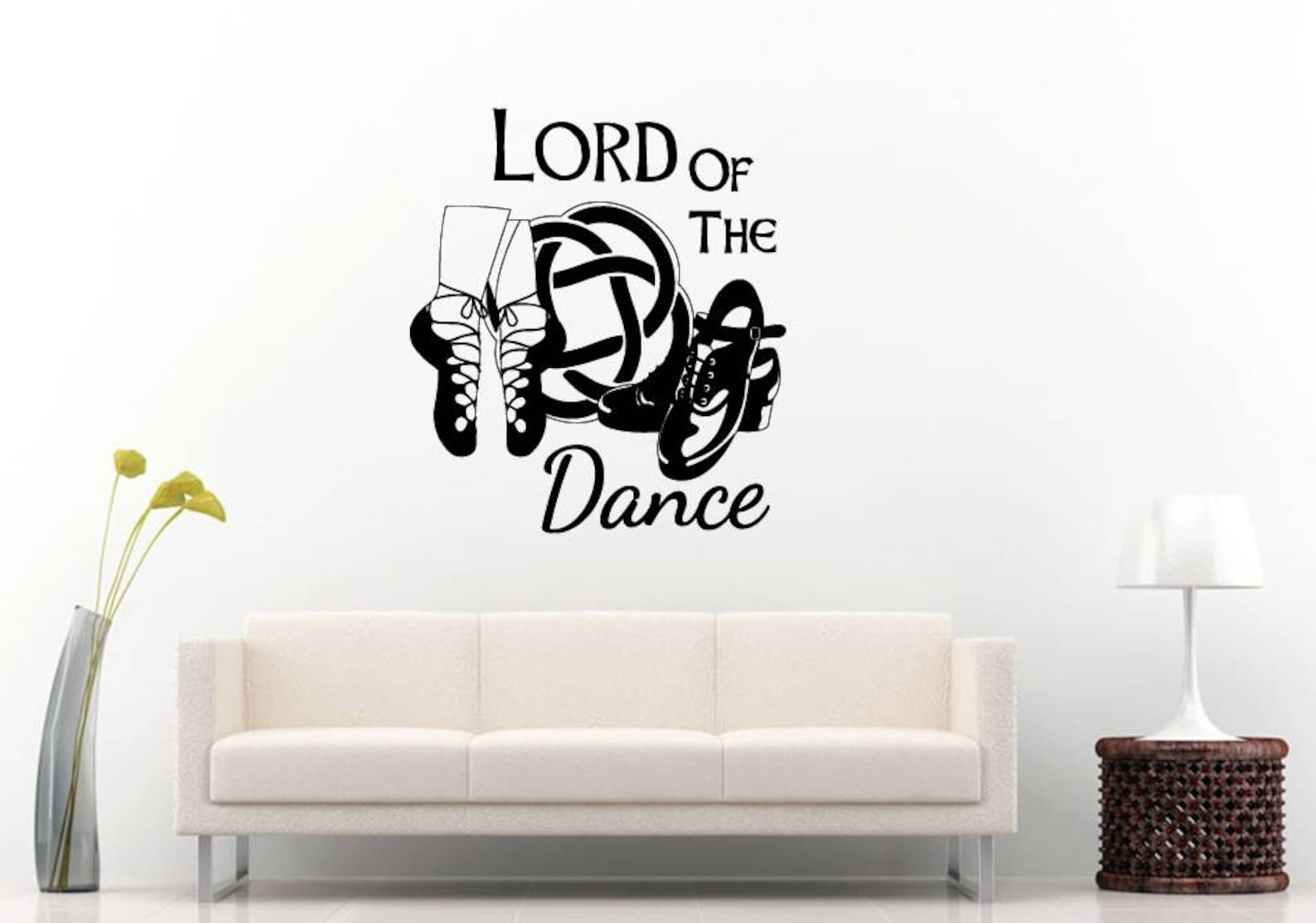 lord of the dance ballet shoes dancing room wall sticker decal vinyl mural decor art l2424