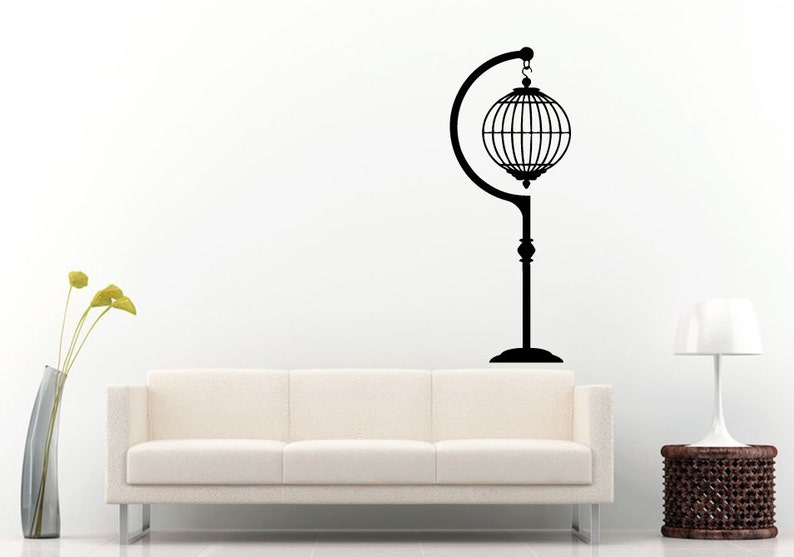 Hanging Bird Cages Wall Decal Vinyl Sticker Mural Room Decor L956