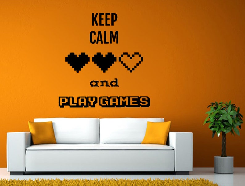 Video Game Controller Joystick Gamer Gaming We Love Gaming Let/'s Play Tv Wall or Window Sticker Decal Vinyl Fathead Mural Decor L2041
