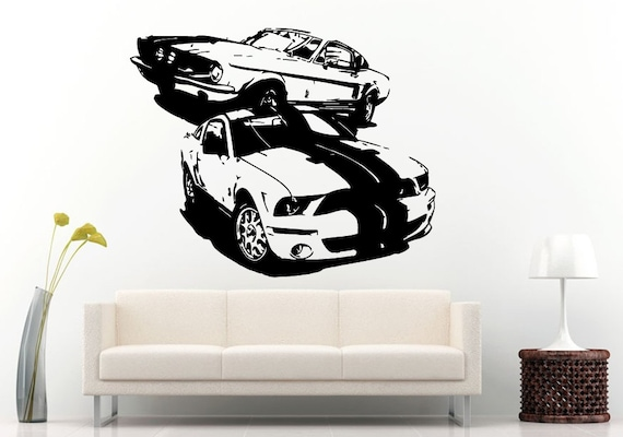 American Muscle Car Hot Rod Classical Vintage Old School Antique Vehicle Wall Decal Vinyl Sticker Mural Room Decor L1276