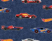 Hot Wheels Main in Navy by Riley Blake Designs