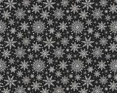 Comfort and Joy Snowflakes in Black by My Mind's Eys for Riley Blake Designs