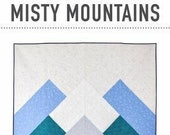 Misty Mountains Quilt Pattern by Patchwork & Poodles