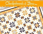 Checkerboards & Stars Quilt Pattern by Fig Tree Quilts