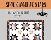 Spooktacular Stars Mini Quilt Pattern by Primrose Cottage Quilts